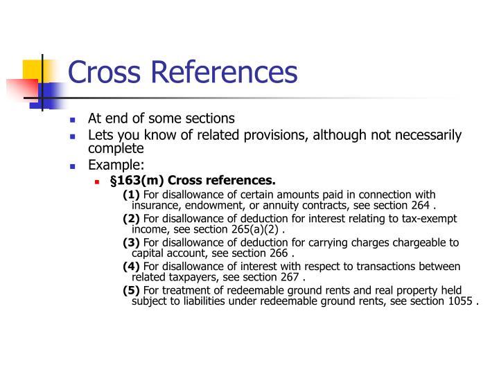 Cross References