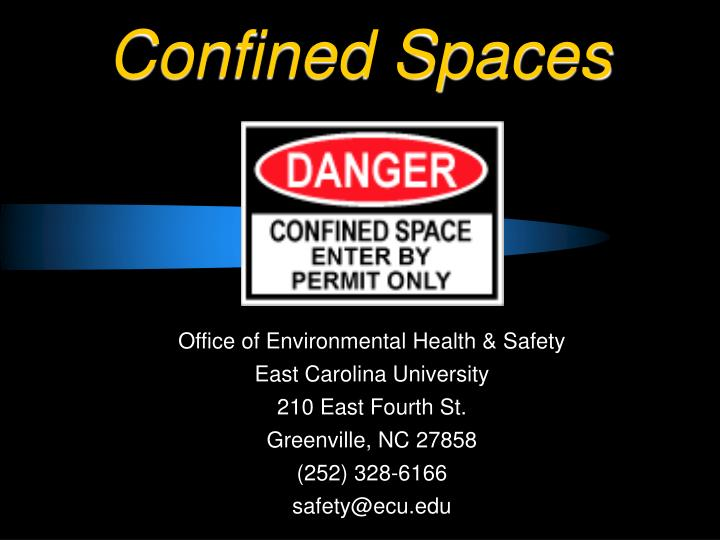 confined spaces n.