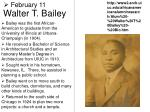 walter t bailey