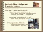 synthetic fibers in precast engineering advances illustration shows vacuum testing apparatus