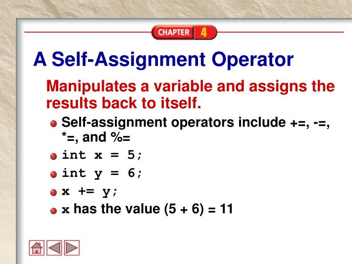 A Self-Assignment Operator