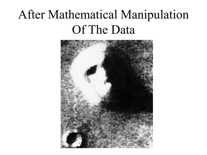 After Mathematical Manipulation Of The Data