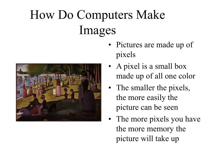 How do computers make images