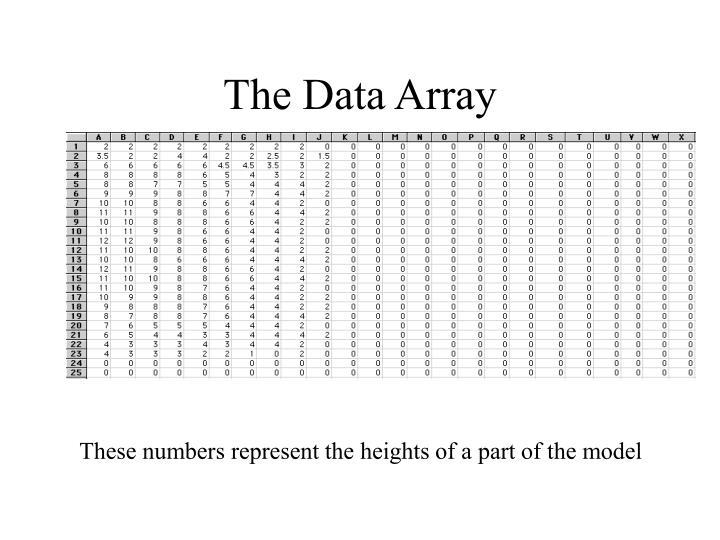 The Data Array
