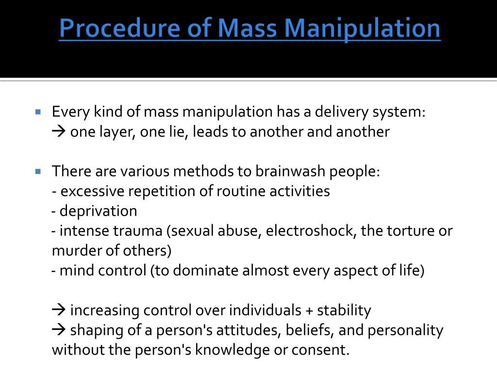 Exposing Manipulative Media Techniques That Restrict ...  Mass Manipulation Techniques