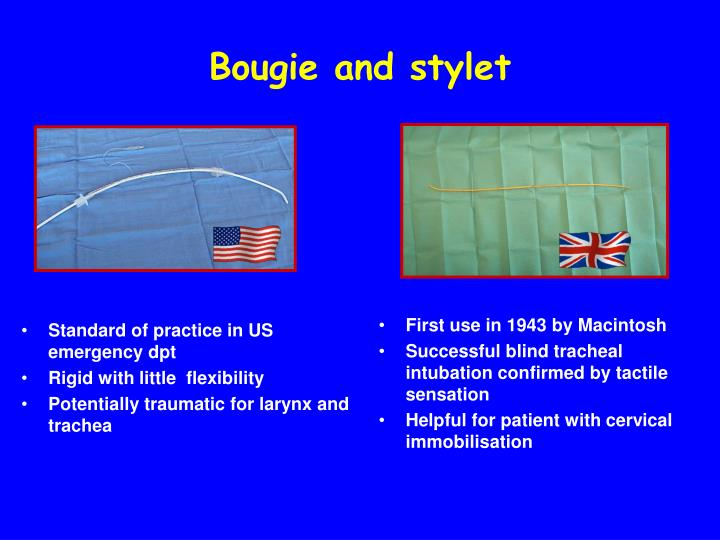 Bougie and stylet