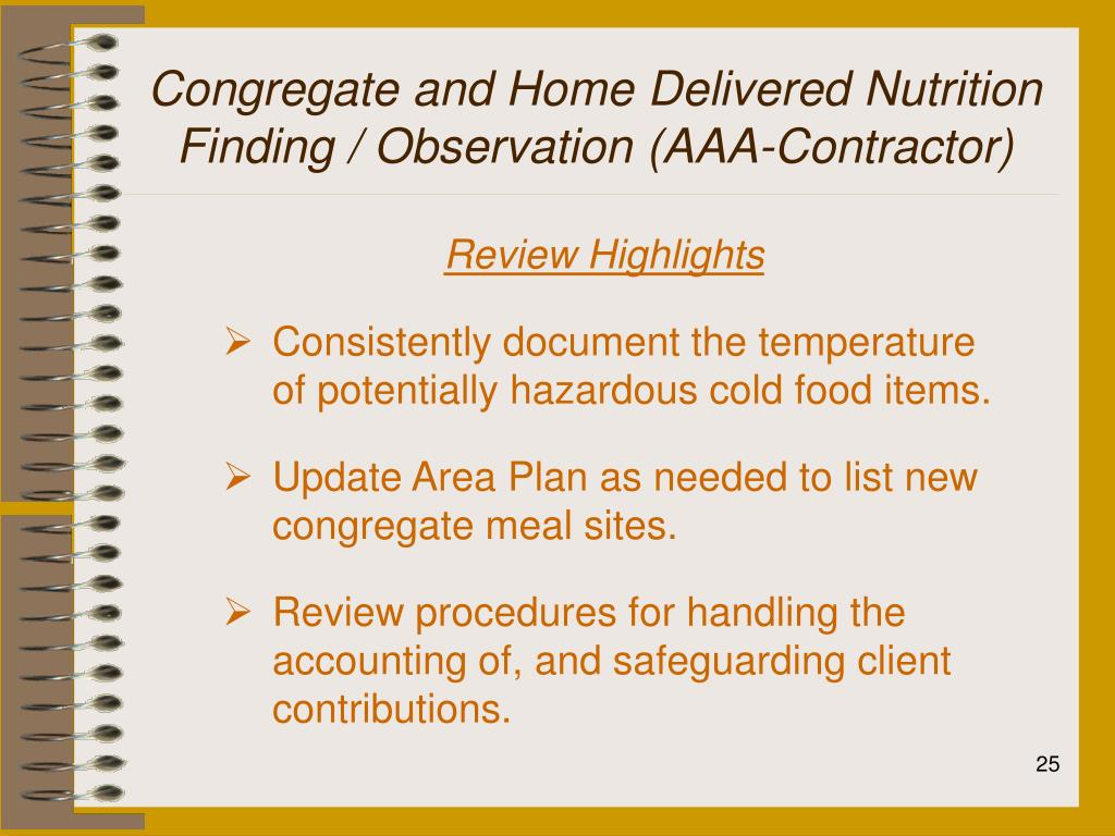 Congregate and Home Delivered Nutrition