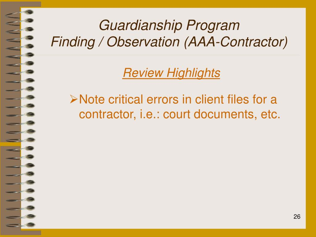 Guardianship Program