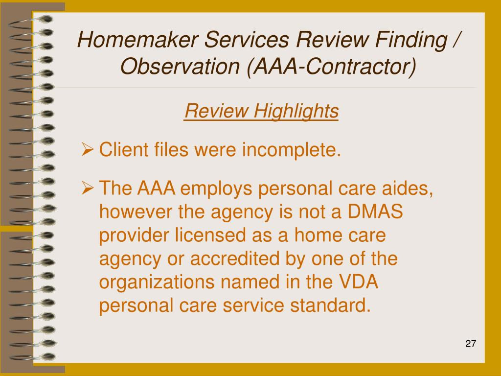 Homemaker Services Review