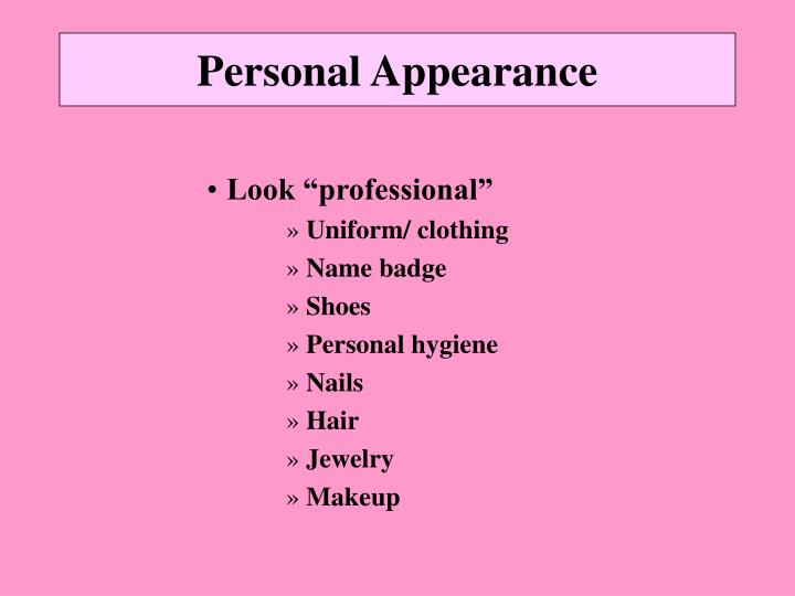 Personal appearance1