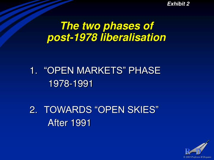 The two phases of post 1978 liberalisation
