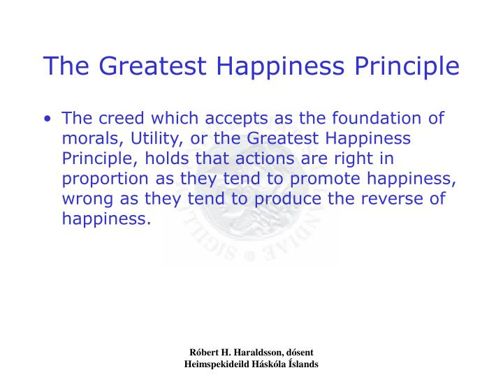 the greatest happiness principle