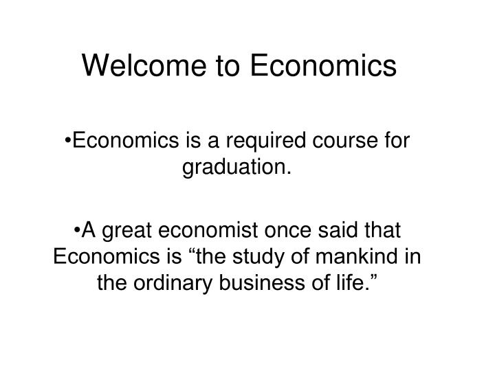 welcome to economics n.