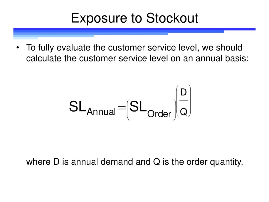 Exposure to Stockout