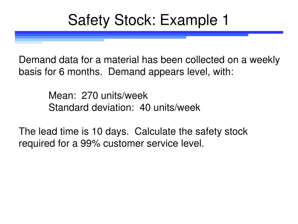 Safety Stock: Example 1