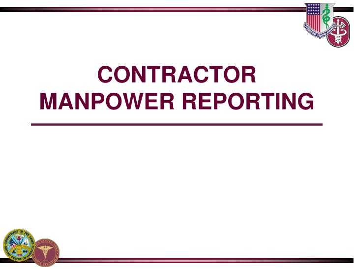 contractor manpower reporting n.