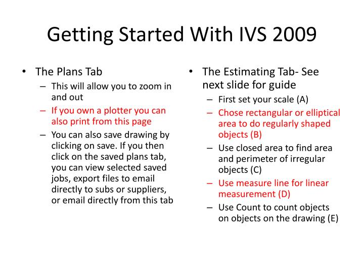 Getting Started With IVS 2009
