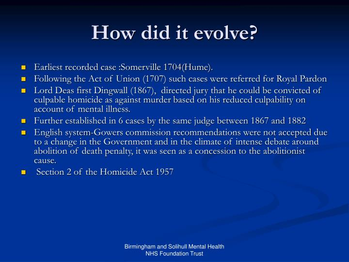 How did it evolve?