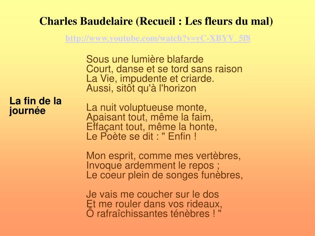 Ppt Analyse Du Poème Les Aveugles De Charles Baudelaire