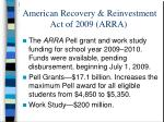 american recovery reinvestment act of 2009 arra20