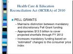 health care education reconciliation act hcera of 201013