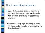new cancellation categories45