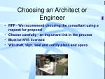 choosing an architect or engineer