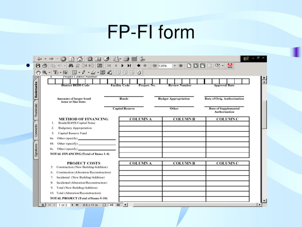FP-FI form