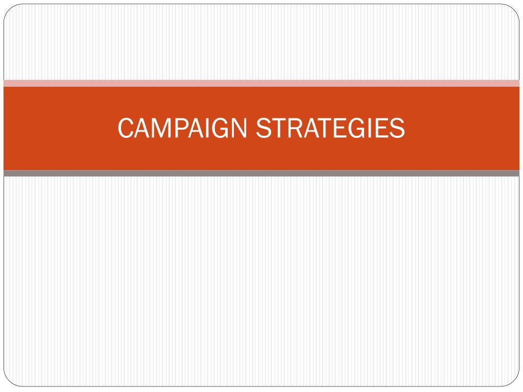 campaign strategies l.