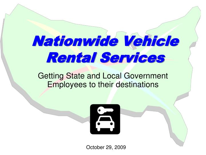 Nationwide vehicle rental services