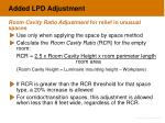 added lpd adjustment