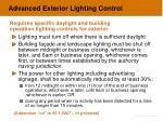 advanced exterior lighting control