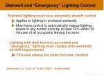 stairwell and emergency lighting control