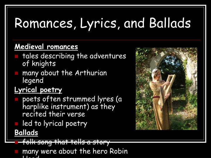 Romances, Lyrics, and Ballads