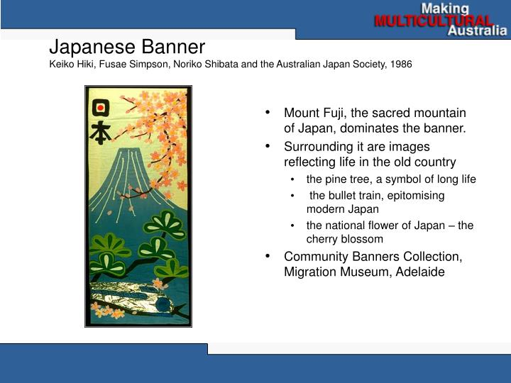 Japanese banner keiko hiki fusae simpson noriko shibata and the australian japan society 1986