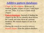 additive pattern databases1
