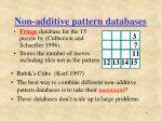 non additive pattern databases