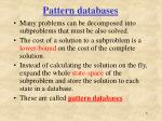 pattern databases