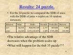 results 24 puzzle