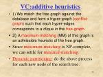 vc additive heuristics