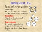 vertex cover vc