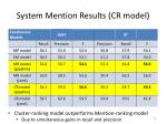 system mention results cr model52