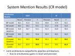 system mention results cr model54