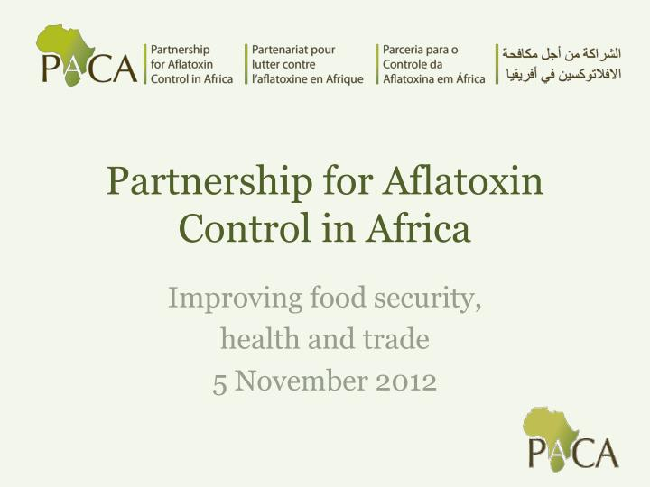 partnership for aflatoxin control in africa n.