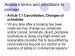 airasia s terms and conditions to carriage