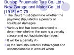 dunlop pnuematic tyre co ltd v new garage and motor co ltd 1915 ac 79