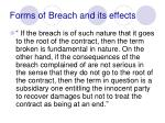forms of breach and its effects7