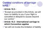 general conditions of carriage mas77