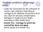 general conditions of carriage mas78