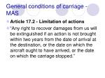 general conditions of carriage mas79